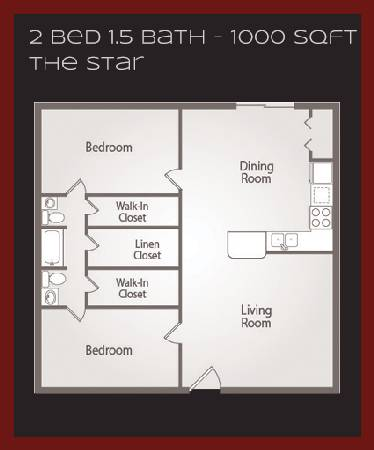 - $900  2br - 1000ftsup2 - FIRST MONTH FREE  Laurel ridge apartments college station (3 min from Texas AM University)