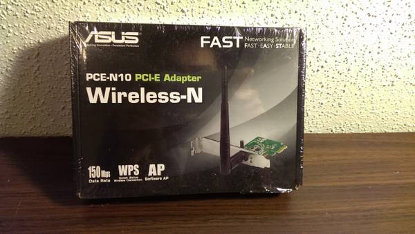 New Asus Wireless-N PCI-E Adapter 150Mbps -   x0024 10  CS