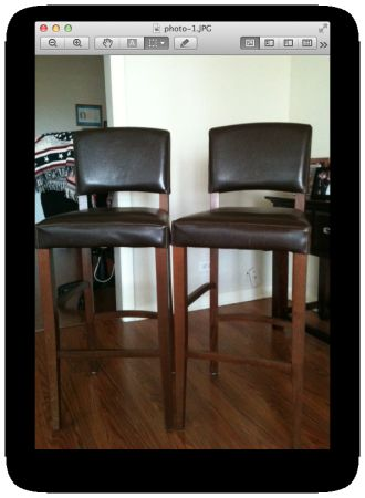 Leather Bar stools from Pier One - $75 (BrenhamCS area)
