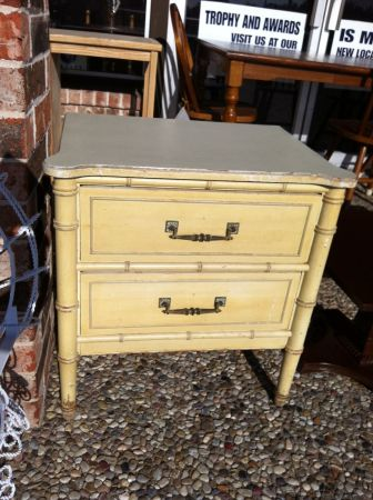 DISTRESSED NIGHTSTAND - $69 (NICKS NICK NACKS)