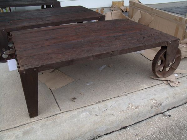 Livery Cart Vintage Coffee Table (NF038) - $552 (Nadeau -- Furniture With a Soul)