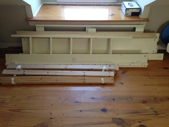 Pbteen white loft bed - $350 (College Station)