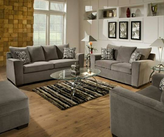 WOW, NEW ROXANNE GUNSMOKE GRAY SOFA  LOVESEAT. GREAT LOOK - $699 (WACO. FAST DELIVERY. CALL US TODAY)