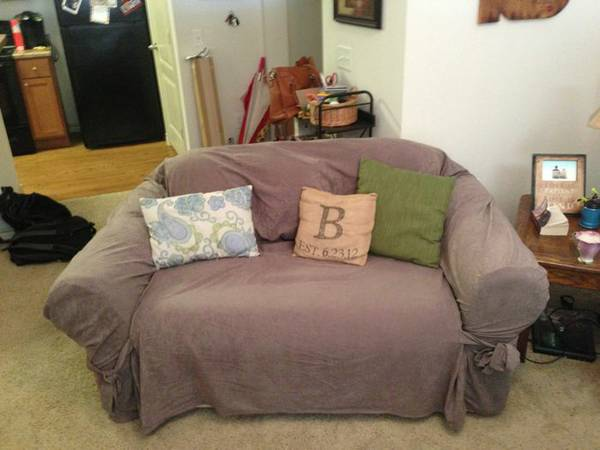 Loveseat Couch with Removable Cover - $50 (College Station)