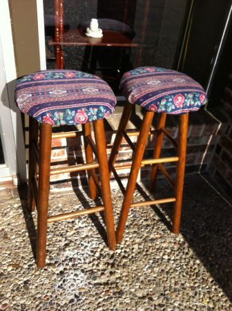 TWO BAR STOOLS - $54 (NICKS NICK NACKS)
