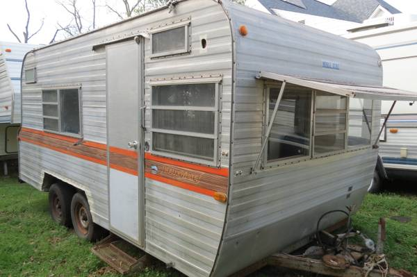 Vintage 73 Mobile Scout Travel Trailer -   x0024 2200  Cameron