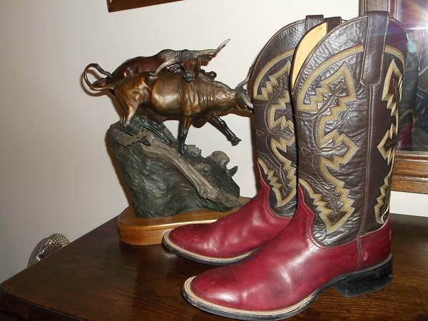 COWBOY BOOTS-Anderson Bean -size 9 REDUCED $65 (C.S.)