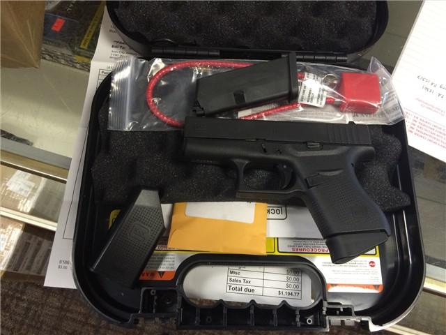 300  Glock 43 9MM PST 6RD FS FOR SALE   Contact me via phone number if interested   602 759-0106