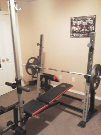 Golds Gym Bench Press w Preacher Curl and Lateral Pull Down Option  - $300 (BryanCollege Station)