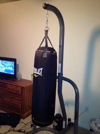 Everlast punching bag and stand set - $100 (College station, TX)