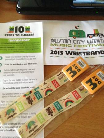 ACL Weekend Two, 3-Day Wristbands - $150