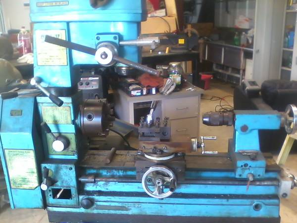 smithy mill drill lathe 3in1 - $500 (south cs)