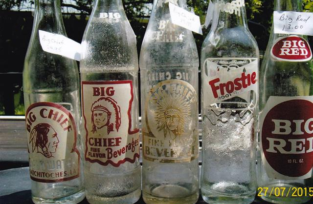 10  Antique Soda Bottles