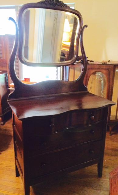350  Mahogany Dresser with Mirror