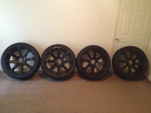 24 BLACK KMC SLIDES w tires - $2400 (college station)