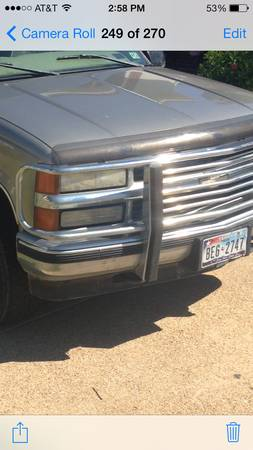 88-98 Truck Accessories, bumper, ChevyGMC 1500 - $150 (S. College Station)