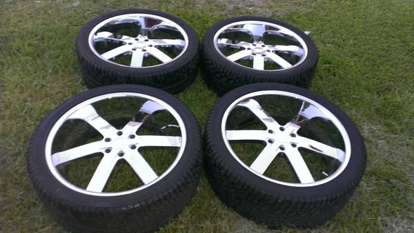 ChevyGMC Rims and tire set - $1100 (Brenham TX)
