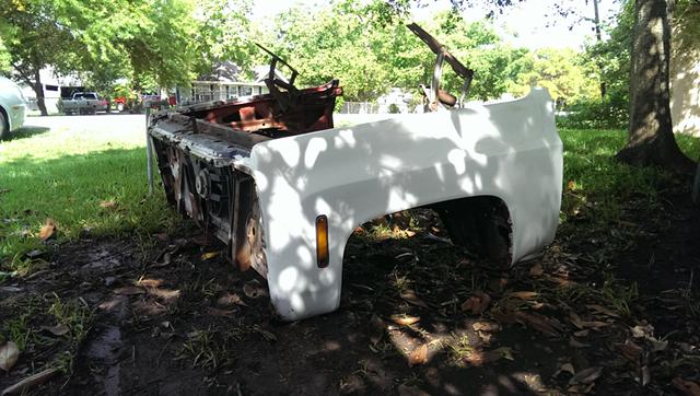 250  1974 Chevy pickup front clip