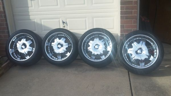 22 inch Wheels, Rims and Tires - $1500 (Cypress)