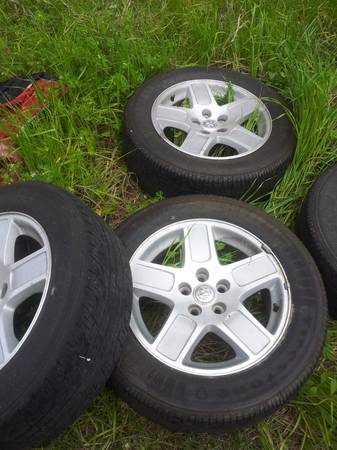 17 inch dodge charger rims and tires - $400 (somerville )