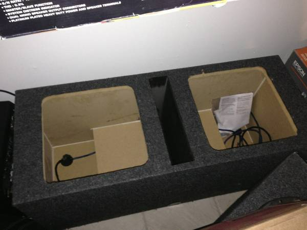 2 12 Ported Square Subwoofer Box - $70 (College Station)