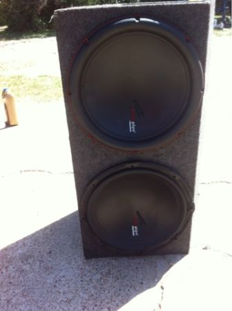 2 15 audiopipe subwoofers - $225 (Snookcollege station)