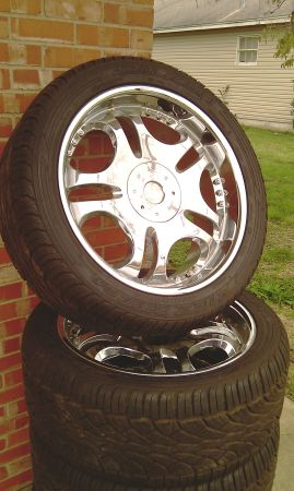 4 22 Chrome Rims with 30540R22 Falken Tires 5 Lug Ford Dodge Truck - $1000 (Bryan,Tx 77803)