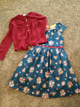 Mini Boden dress and cardigan  Girls 9-10 -   x0024 20