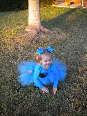 Cookie monster tutu costume 2T - $30 (North Bryan)