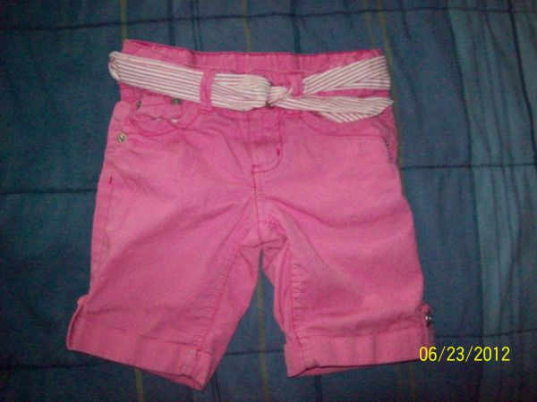 PINK FADED GLORY SHORTS WITH BELT- SIZE 5 (MADISONVILLE)