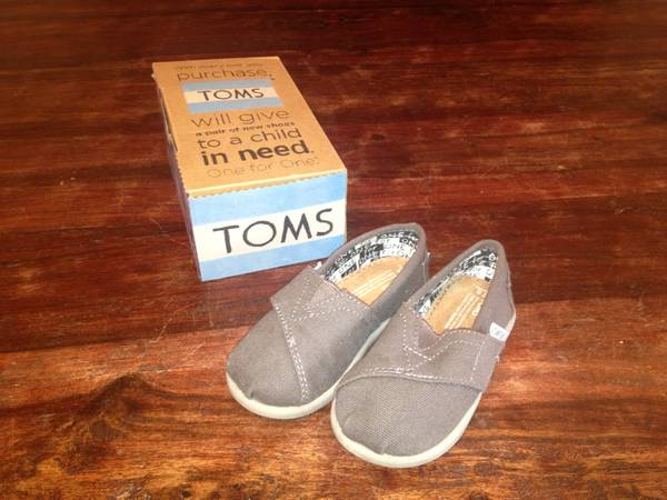 New Toms shoes - Grey - Size 6 Toddler - $15 (South College Station)