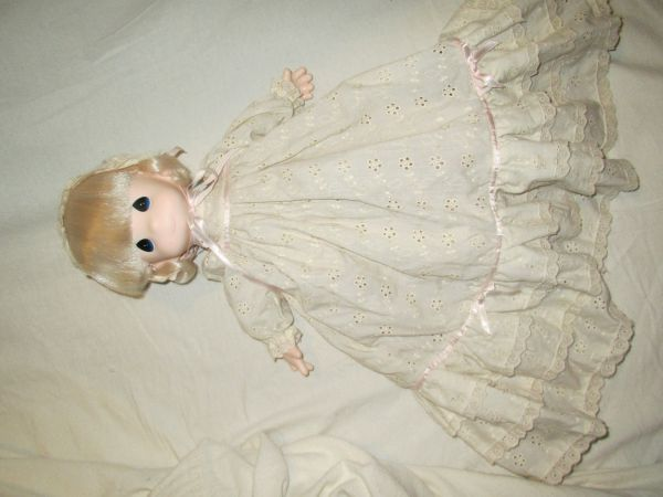 Precious Moments 15 soft-bodied Christening doll - $10 (CS)