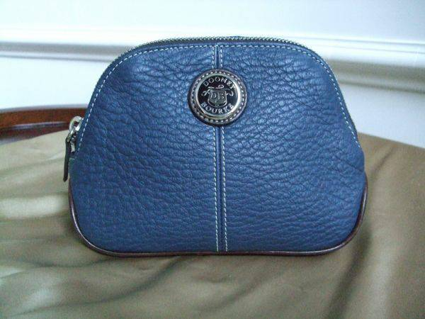 Dooney Bourke All Weather Leather Cosmetic BagSmall Clutch (College Station)