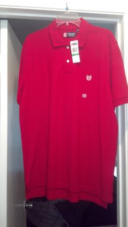 NEW RED POLO SHIRT WITH TAGS - $25 (COLLEGE STATION BY WALMART)