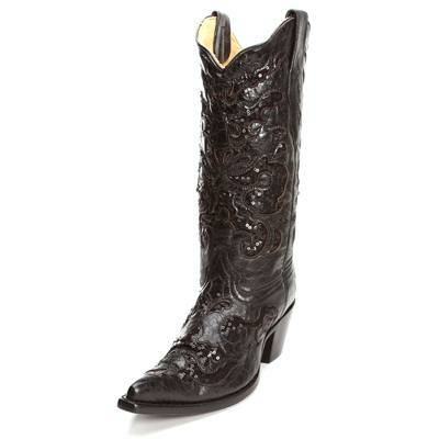 Womens Beautiful Black Corral Boots - $200 (Bryan, TX)