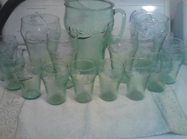 Vintage Coca-Cola Pitcher Glasses - $100 (BryanCollege Station)