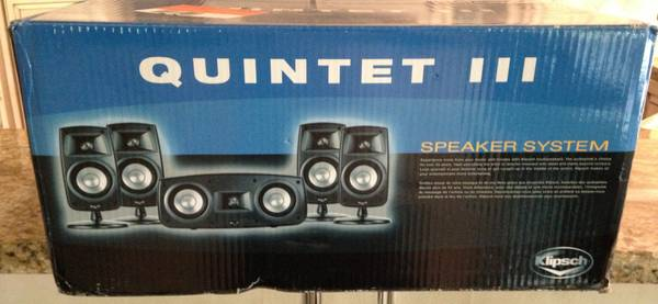 Klipsch Quintet III 5 Speaker Surround  Sub and Yamaha Tuner - $800 (College Station)