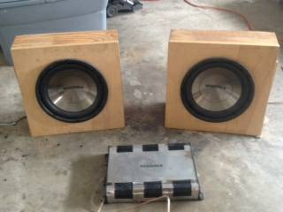 Insignia Subwoofers and Amplifier - $125