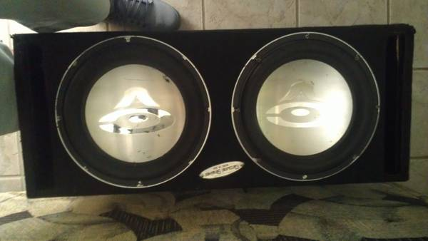 Cerwin Vega 12s in a Ground Shaker box.. - $120 (college station)