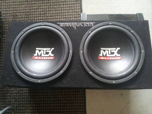 MTX Audio Terminator 2 12 Inch Subs and Amp - $200 (Bryan)