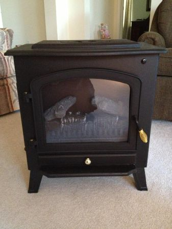 Electric Fireplace Heater - $75 (College Station)