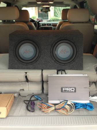 Two 10 Merlon Audio Subwoofers w 1600w Pro Acoustic Amp - $190 (College Station TX)