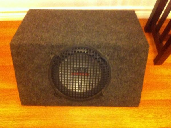 MTX 10 inch speaker and box - $50 (Anderson)