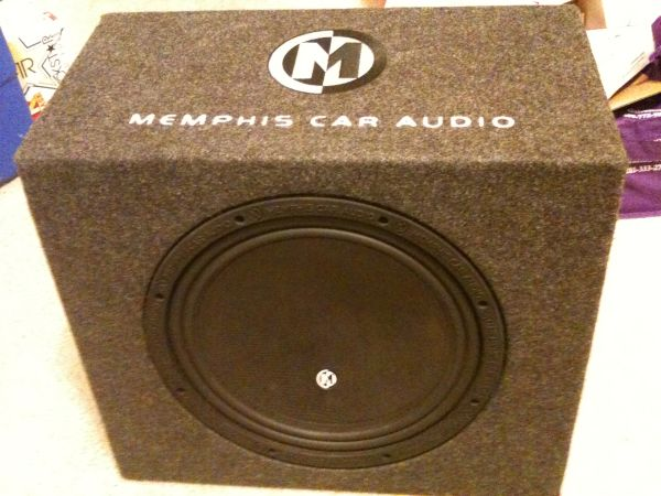 12 Memphis Car Audio Subwoofer and 1000 Watt Kenwood Amp - $250 (College Station)