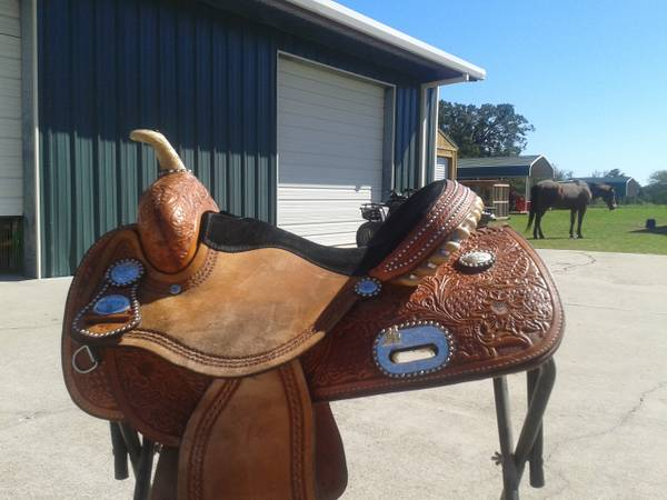 14 Tex Tan Flex tree Barrel Saddle - $1125 (Midway)