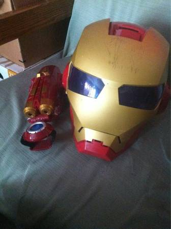 Iron man helmet with gun arm -   x0024 15  Bryan