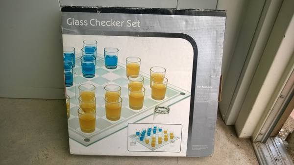 Glass Checker Set -   x0024 20  College Station