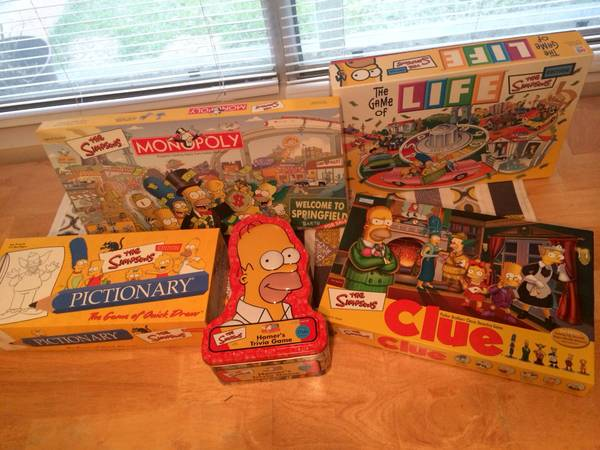 Lot of The Simpsons board games -   x0024 20  Navasota