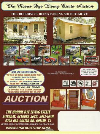 Estate Auction at Blue Sky Ranch in Goliad, TX (5298 Old Goliad Rd)