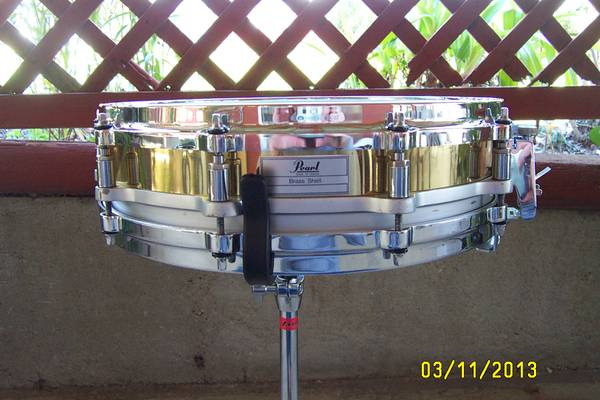 Pearl Brass Free Floating Snare - $200 (BCS)